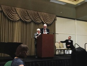 Nancy and Hank Mascotte accepting the GALA Service Award