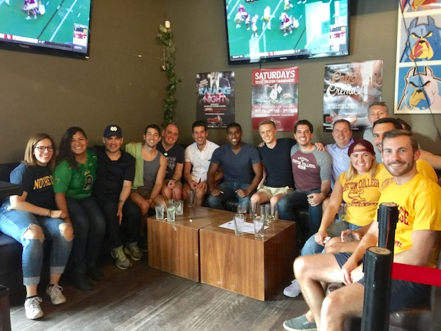 Local ND NYC alums joined the NYC Boston College LGBT Alumni group to see  ND beat BC 49-20 at the heights.